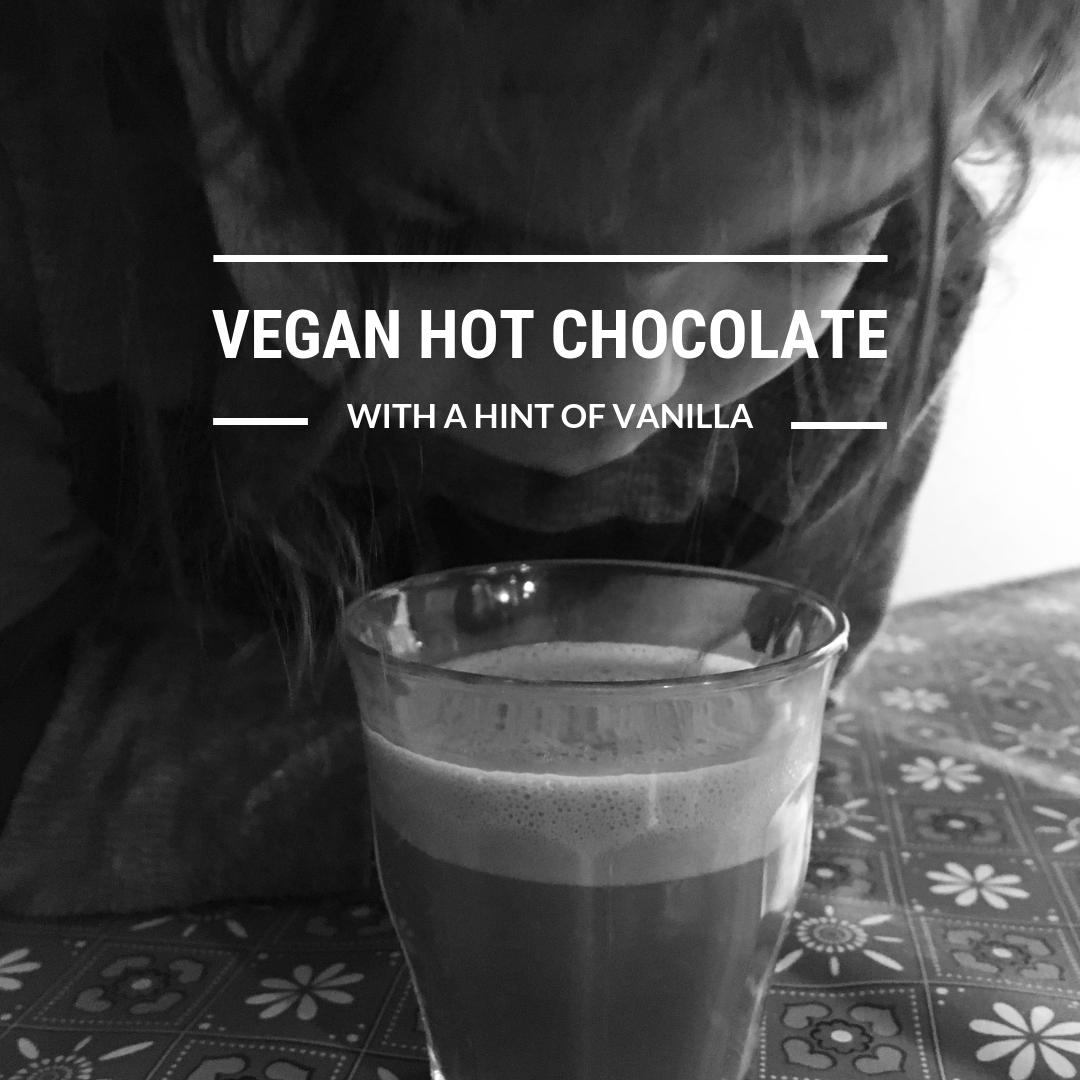 Vegan Hot Chocolate with a Hint of Vanilla {Vitamix Recipe}